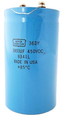 1x 1100uF 250V Large Can Electrolytic Aluminum Capacitor DC 250VDC 1,100uf 85C